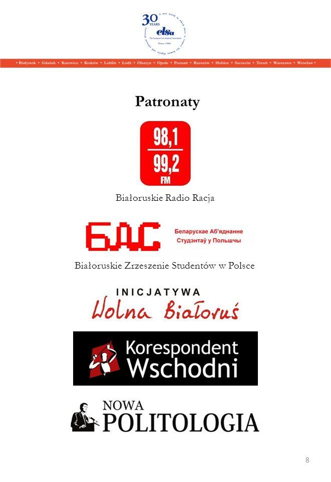 Patronaty 8 Białoruskie Zrzeszenie Studentów w Polsce Białoruskie Radio Racja
