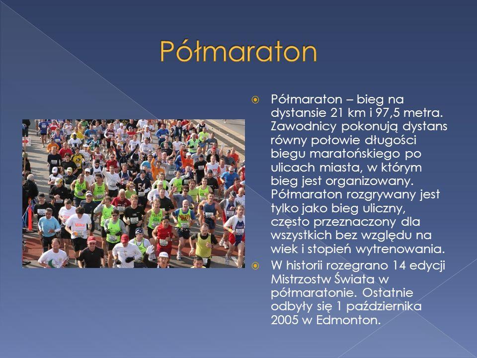 Maraton jest zaliczany do dyscyplin olimpijskich jak i masowych biegów ulicznych.