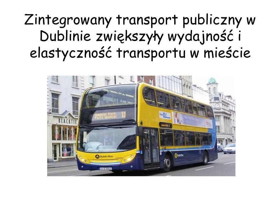 Zintegrowany transport publiczny w Dublinie zwiększyły wydajność i elastyczność transportu w mieście