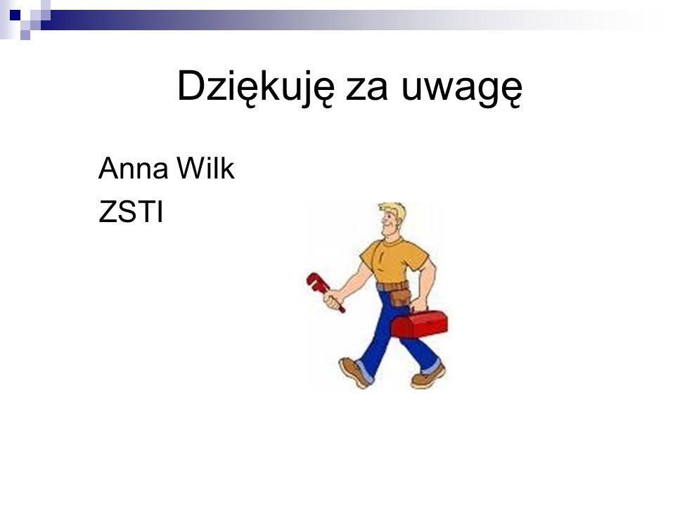 Dziękuję za uwagę Anna Wilk ZSTI
