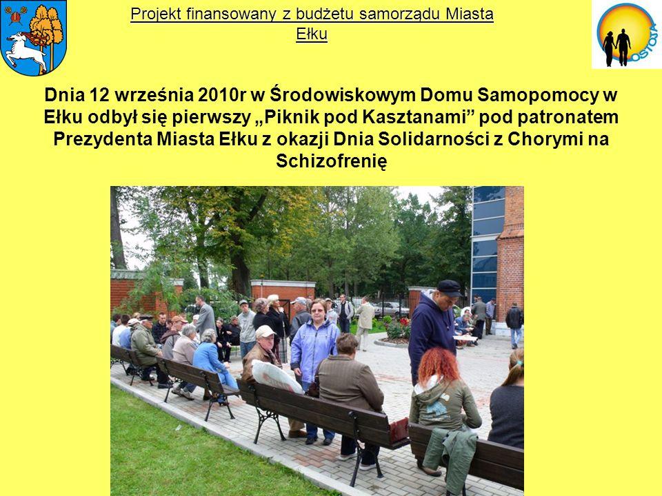 Dnia 12 września 2010r w Środowiskowym Domu Samopomocy w Ełku odbył się pierwszy Piknik pod Kasztanami pod patronatem Prezydenta Miasta Ełku z okazji