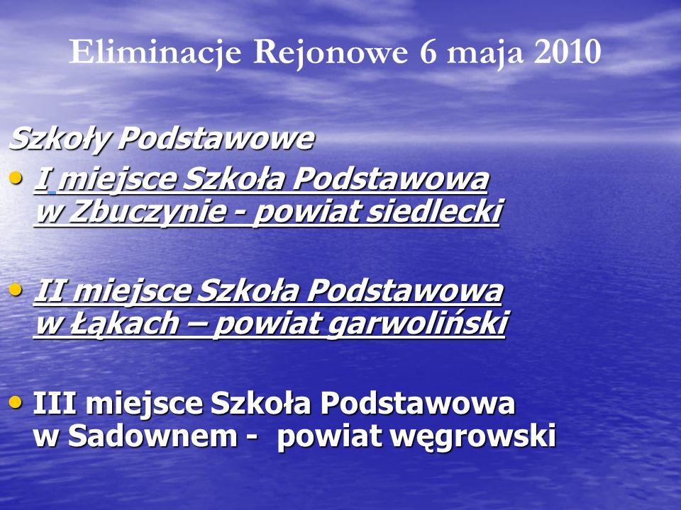 Szkoły Podstawowe I miejsce Szkoła Podstawowa w Zbuczynie - powiat siedlecki I miejsce Szkoła Podstawowa w Zbuczynie - powiat siedlecki II miejsce Szk