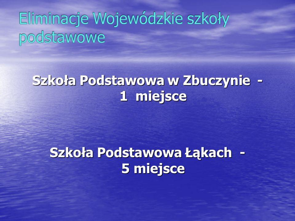 Szkoła Podstawowa w Zbuczynie - 1 miejsce Szkoła Podstawowa Łąkach - 5 miejsce
