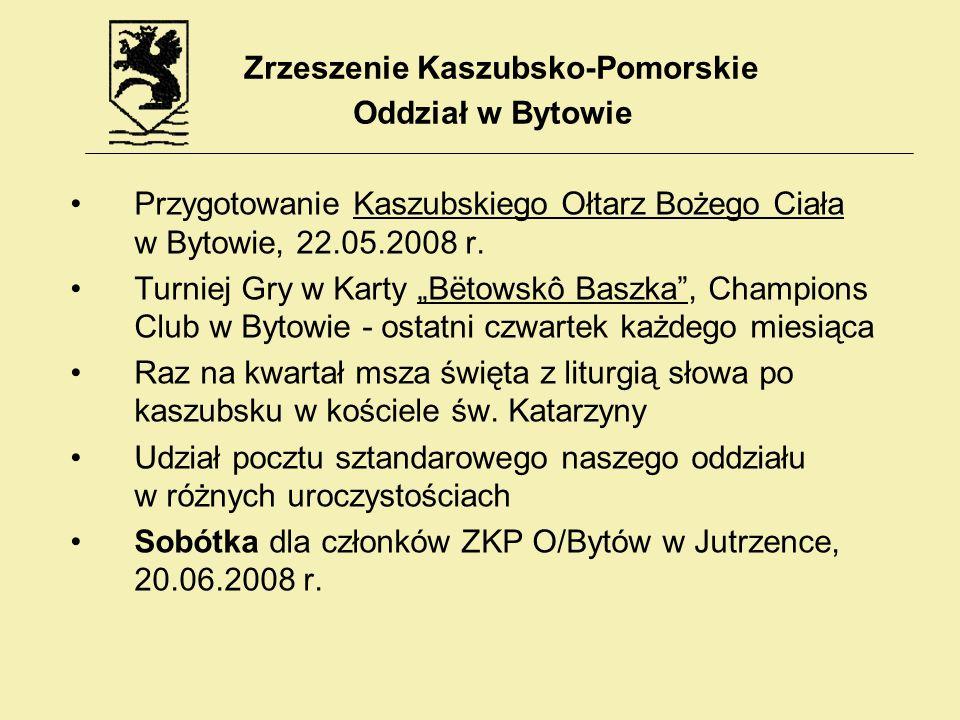Przygotowanie Kaszubskiego Ołtarz Bożego Ciała w Bytowie, 22.05.2008 r. Turniej Gry w Karty Bëtowskô Baszka, Champions Club w Bytowie - ostatni czwart