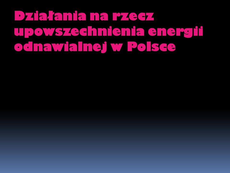 Działania na rzecz upowszechnienia energii odnawialnej w Polsce