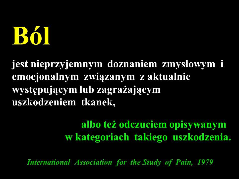 Rodzaje bólu Receptorowy Zapalny Neuropatyczny Neurogenny Deaferentacja CRPS - ZWBM Devor Textbook of Pain 1999 Dellemijn P.