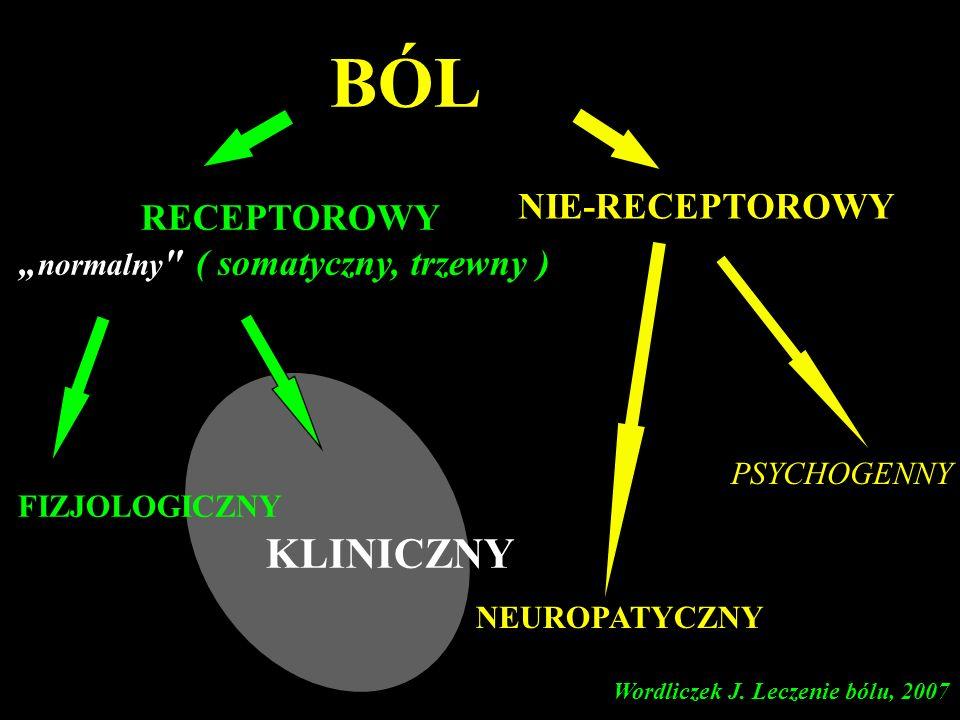 Ból neuropatyczny z deaferentacji polineuropatia cukrzycowa neuralgia popółpaścowa awulsja splotu ramiennego przetrwały ból pooperacyjny ból fantomowy ból ośrodkowy Wordliczek J.