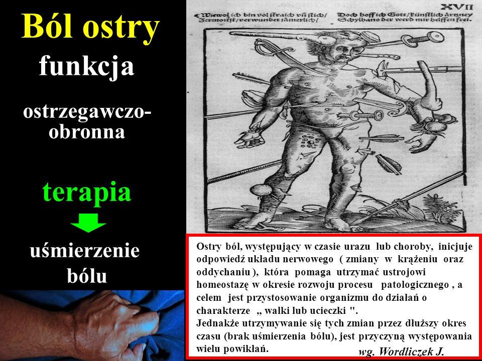 Ból przewlekły receptorowy Choroba zwyrodnieniowa Osteoporoza Ból naczyniowy Bóle głowy Bóle trzewne Dobrogowski J, Wordliczek J.