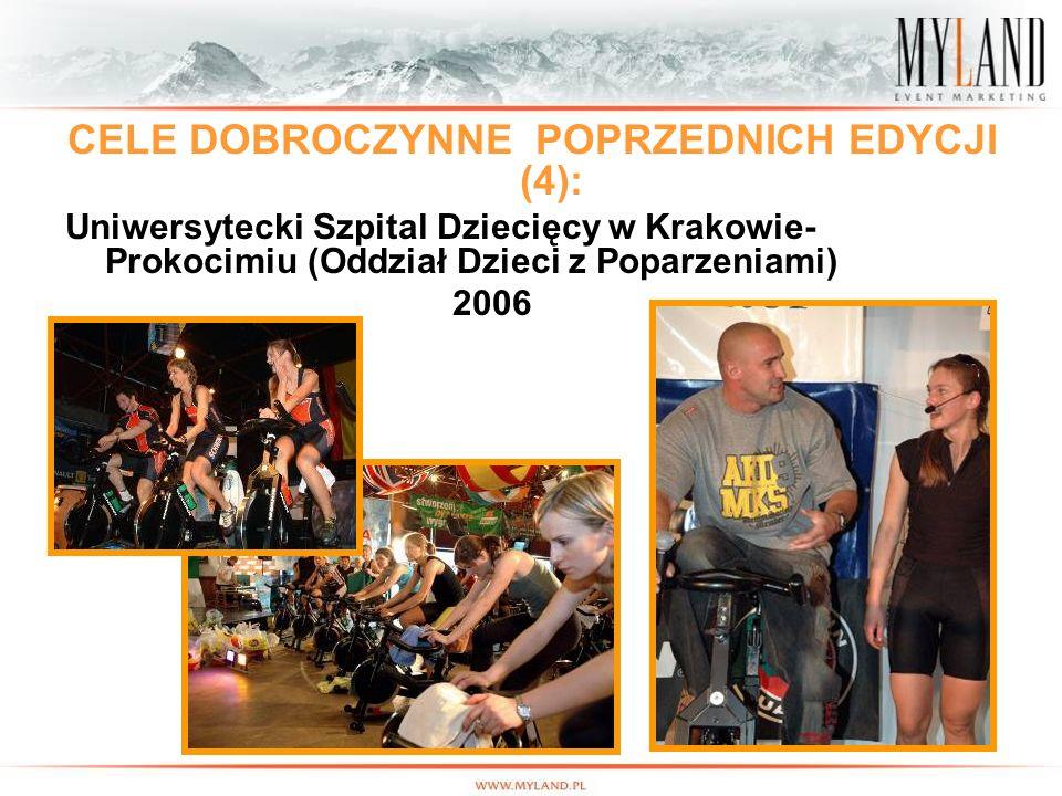 11 CELE DOBROCZYNNE POPRZEDNICH EDYCJI (4): Uniwersytecki Szpital Dziecięcy w Krakowie- Prokocimiu (Oddział Dzieci z Poparzeniami) 2006