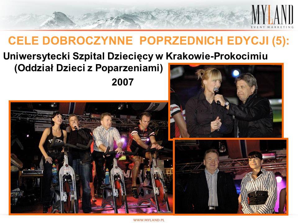 13 CELE DOBROCZYNNE POPRZEDNICH EDYCJI (5): Uniwersytecki Szpital Dziecięcy w Krakowie-Prokocimiu (Oddział Dzieci z Poparzeniami) 2007