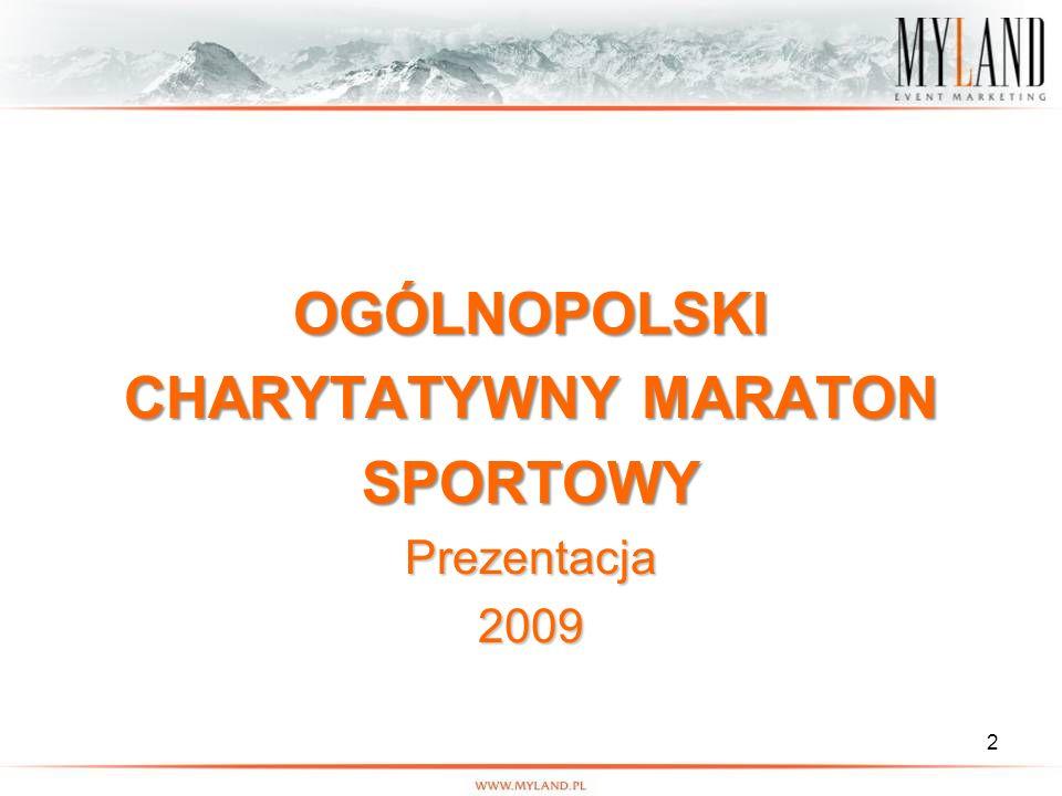 2 OGÓLNOPOLSKI CHARYTATYWNY MARATON SPORTOWYPrezentacja2009