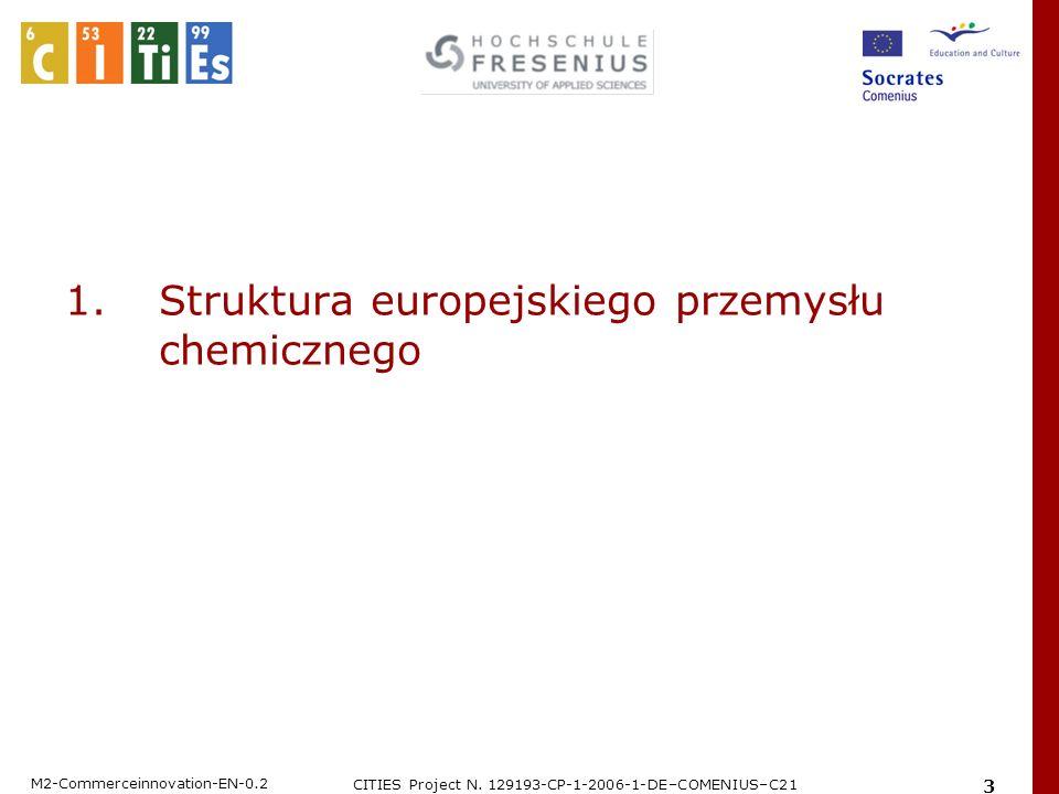 M2-Commerceinnovation-EN-0.2 CITIES Project N. 129193-CP-1-2006-1-DE–COMENIUS–C21 3 1. Struktura europejskiego przemysłu chemicznego