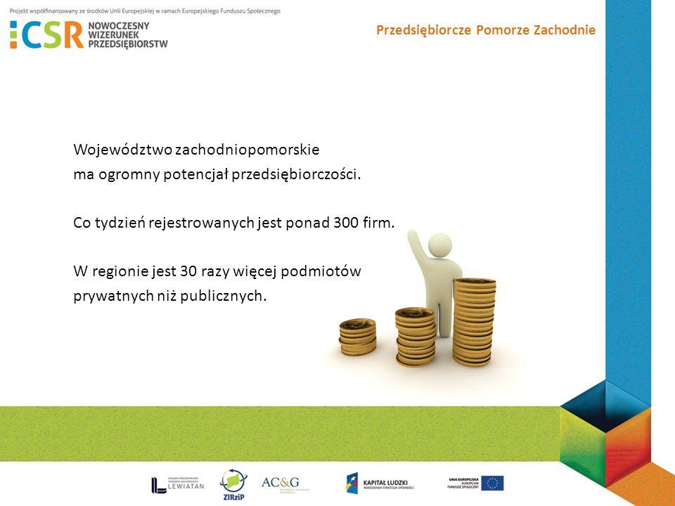 Przedsiębiorcze Pomorze Zachodnie Województwo zachodniopomorskie ma ogromny potencjał przedsiębiorczości.