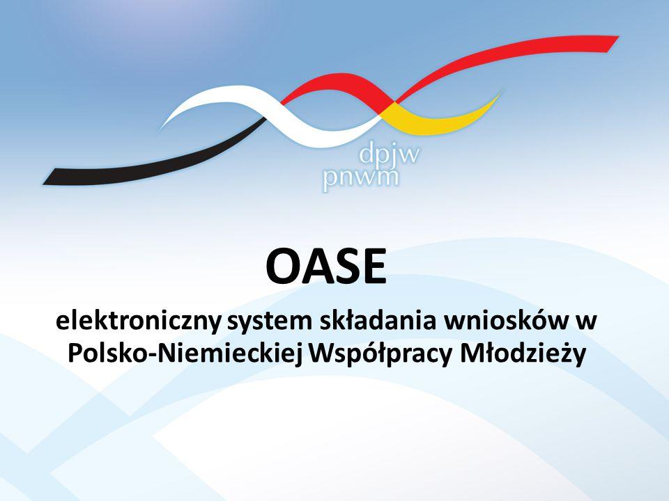 OASE elektroniczny system składania wniosków w Polsko-Niemieckiej Współpracy Młodzieży