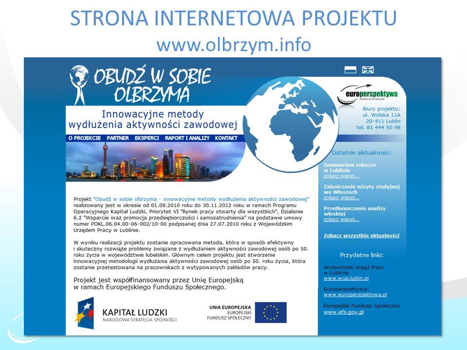 STRONA INTERNETOWA PROJEKTU www.olbrzym.info