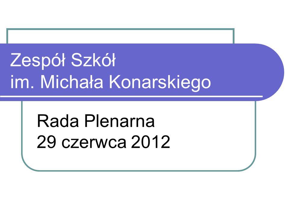 Zespół Szkół im. Michała Konarskiego Rada Plenarna 29 czerwca 2012