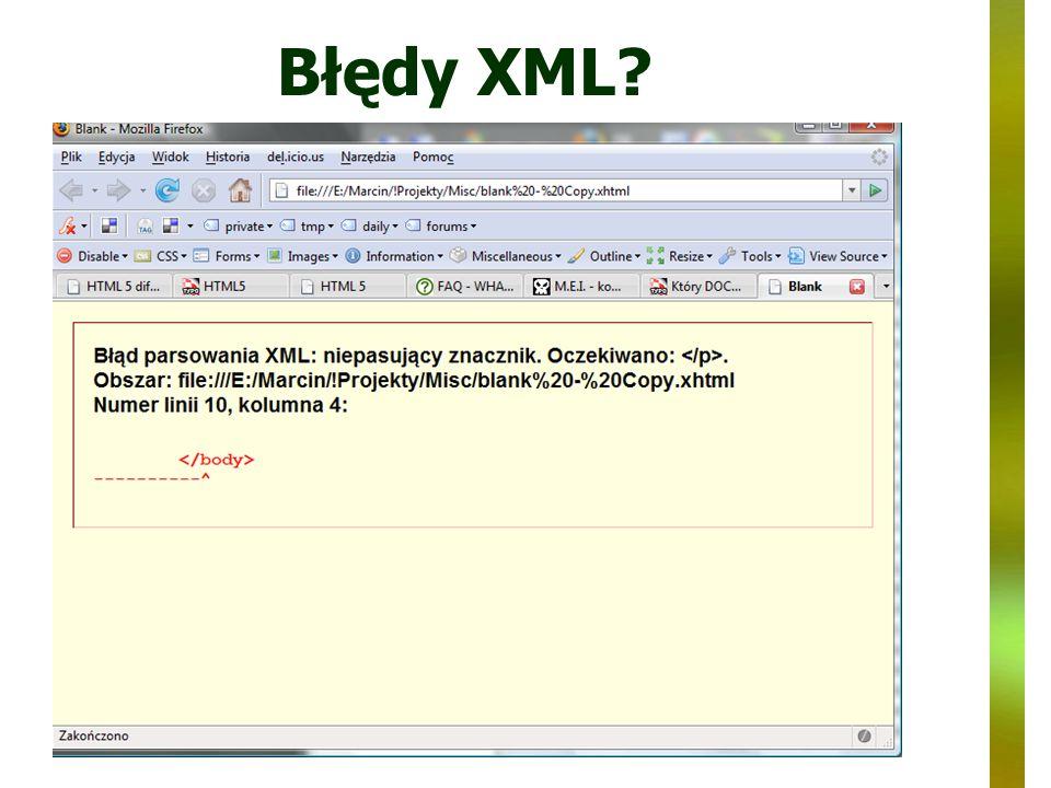 Błędy XML?