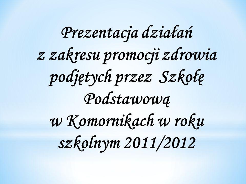 Prezentacja działań z zakresu promocji zdrowia podjętych przez Szkołę Podstawową w Komornikach w roku szkolnym 2011/2012