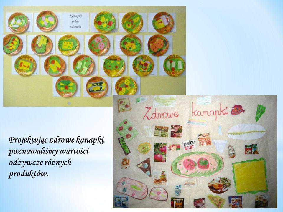Projektując zdrowe kanapki, poznawaliśmy wartości odżywcze różnych produktów.