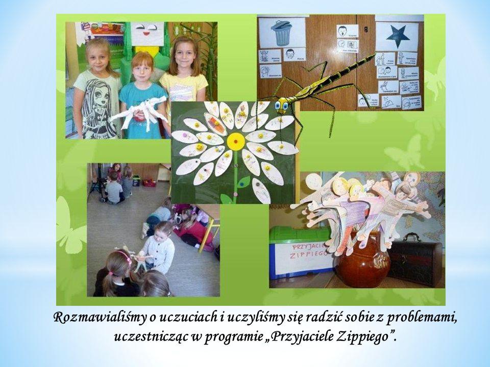 Rozmawialiśmy o uczuciach i uczyliśmy się radzić sobie z problemami, uczestnicząc w programie Przyjaciele Zippiego.