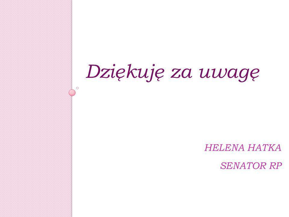 HELENA HATKA SENATOR RP Dziękuję za uwagę