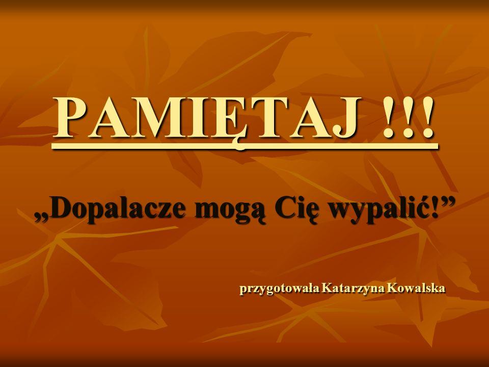 PAMIĘTAJ !!! Dopalacze mogą Cię wypalić! przygotowała Katarzyna Kowalska