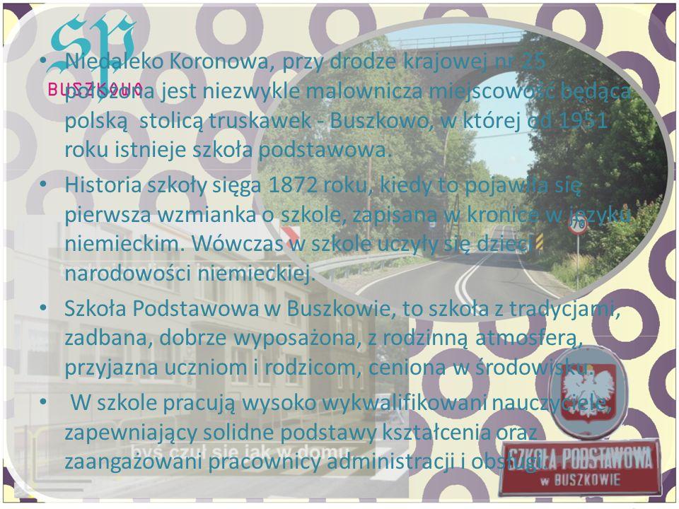 Niedaleko Koronowa, przy drodze krajowej nr 25 położona jest niezwykle malownicza miejscowość będąca polską stolicą truskawek - Buszkowo, w której od