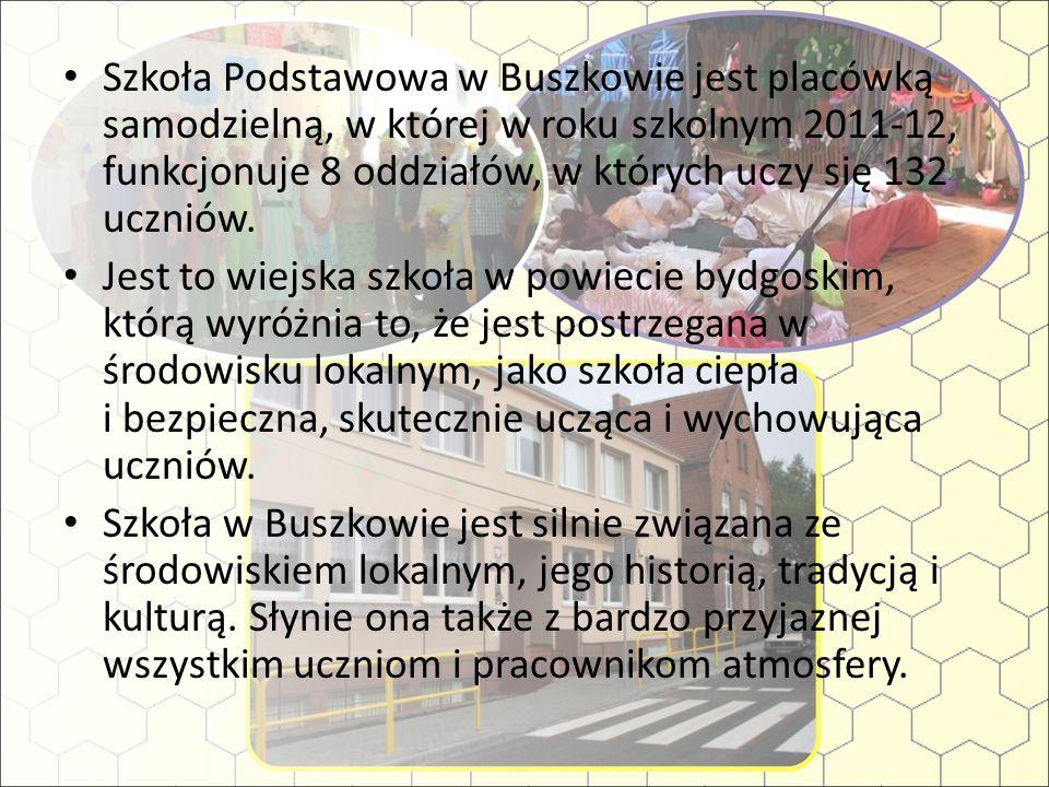 Szkoła Podstawowa w Buszkowie jest placówką samodzielną, w której w roku szkolnym 2011-12, funkcjonuje 8 oddziałów, w których uczy się 132 uczniów. Je