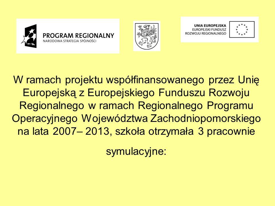 W ramach projektu współfinansowanego przez Unię Europejską z Europejskiego Funduszu Rozwoju Regionalnego w ramach Regionalnego Programu Operacyjnego W