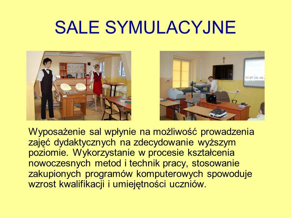 SALE SYMULACYJNE Wyposażenie sal wpłynie na możliwość prowadzenia zajęć dydaktycznych na zdecydowanie wyższym poziomie. Wykorzystanie w procesie kszta