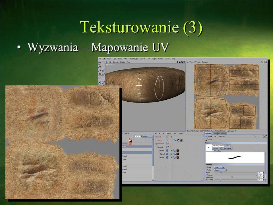 Teksturowanie (3) Wyzwania – Mapowanie UV
