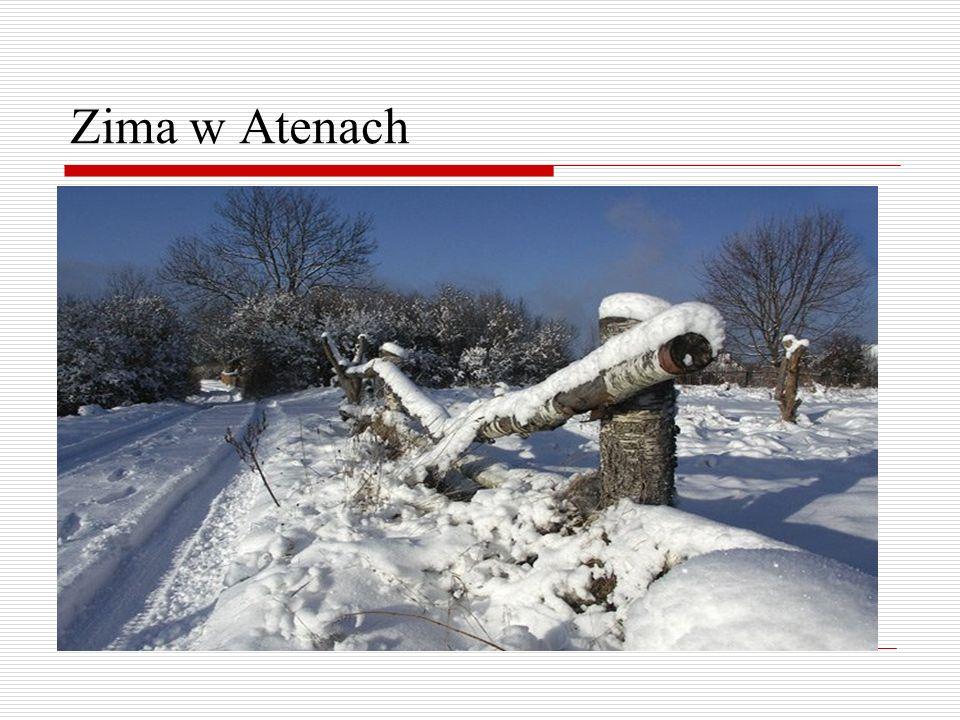 Zima w Atenach
