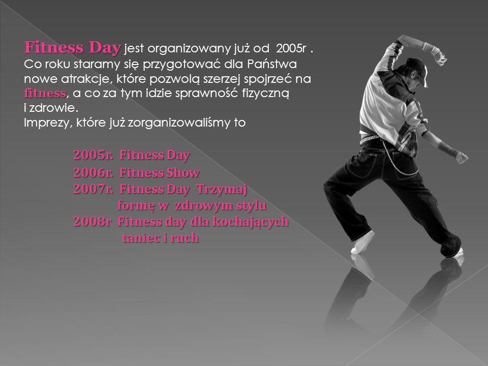 Fitness Day Fitness Day jest organizowany już od 2005r.