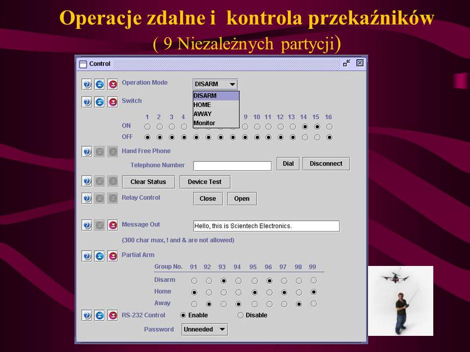 Operacje zdalne i kontrola przekaźników ( 9 Niezależnych partycji )
