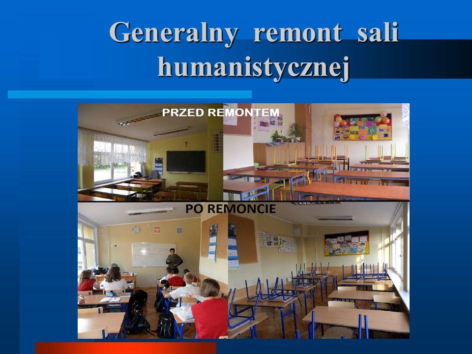 Generalny remont sali humanistycznej