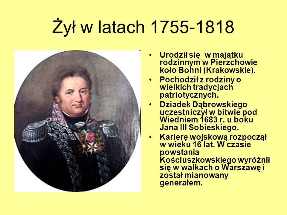 Żył w latach 1755-1818 Urodził się w majątku rodzinnym w Pierzchowie koło Bohni (Krakowskie). Pochodził z rodziny o wielkich tradycjach patriotycznych