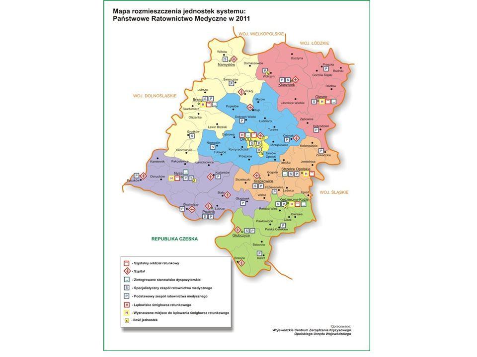 Zmiana systemu dysponowania zespołami ratownictwa medycznego W województwie Opolskim planuje się utworzyć jedno centrum powiadamiania ratunkowego oraz jedno zintegrowane stanowisko dyspozytorskie W okresie przejściowym funkcjonować będzie 6 stanowisk dyspozytorskich