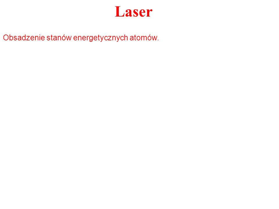 Obsadzenie stanów energetycznych atomów.