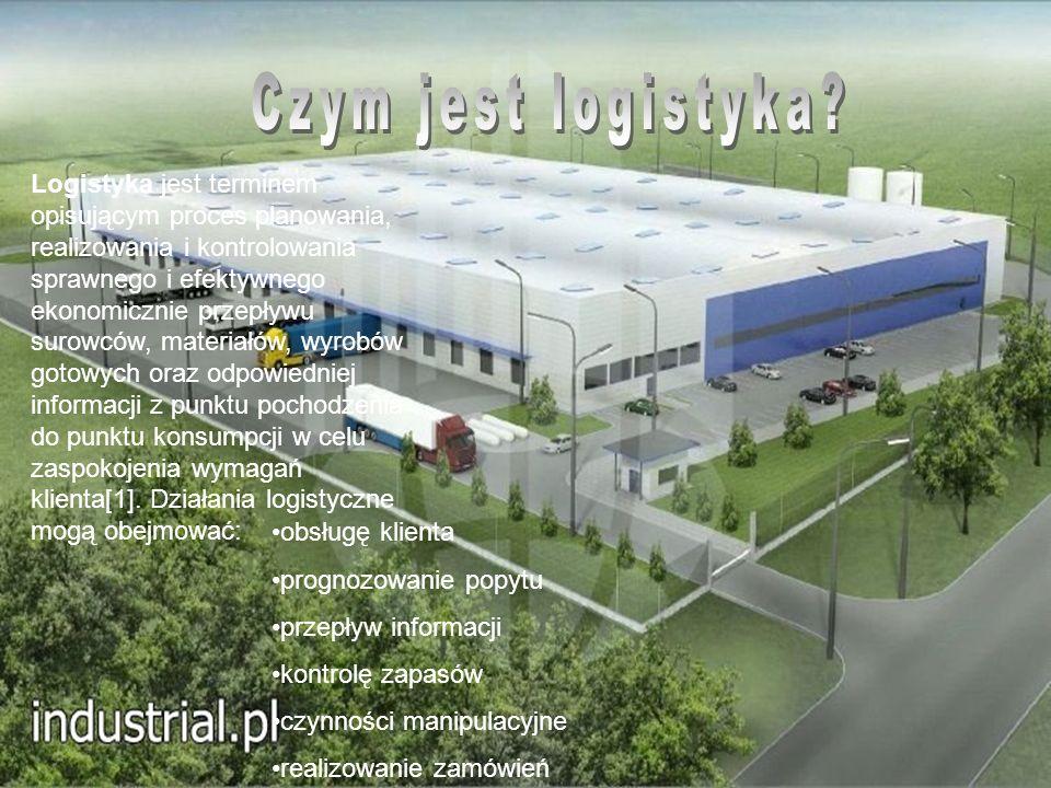 Logistyka jest terminem opisującym proces planowania, realizowania i kontrolowania sprawnego i efektywnego ekonomicznie przepływu surowców, materiałów