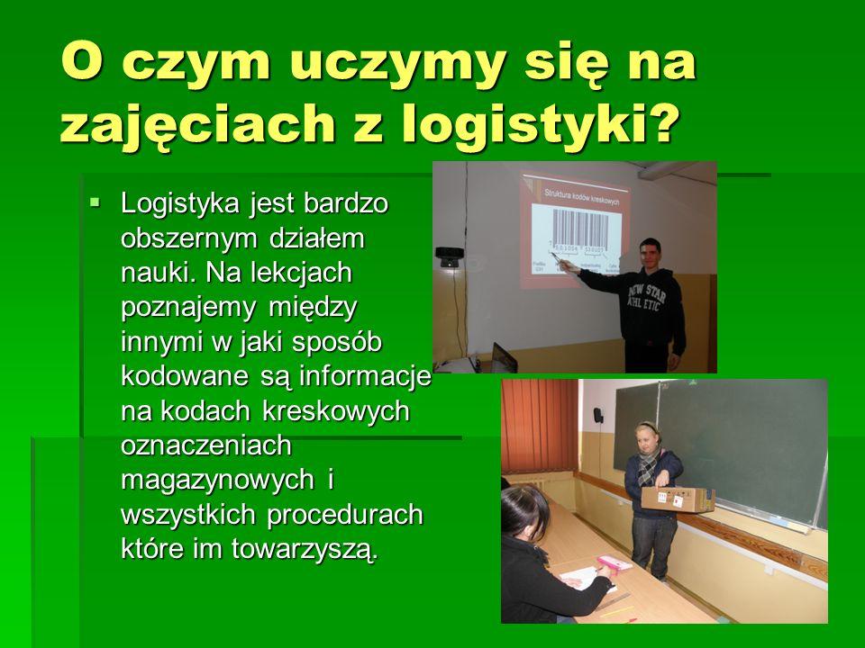 O czym uczymy się na zajęciach z logistyki? Logistyka jest bardzo obszernym działem nauki. Na lekcjach poznajemy między innymi w jaki sposób kodowane