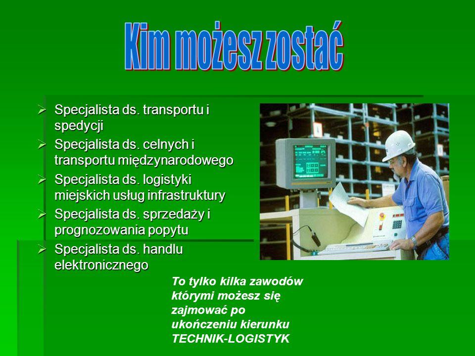 Specjalista ds. transportu i spedycji Specjalista ds. transportu i spedycji Specjalista ds. celnych i transportu międzynarodowego Specjalista ds. celn