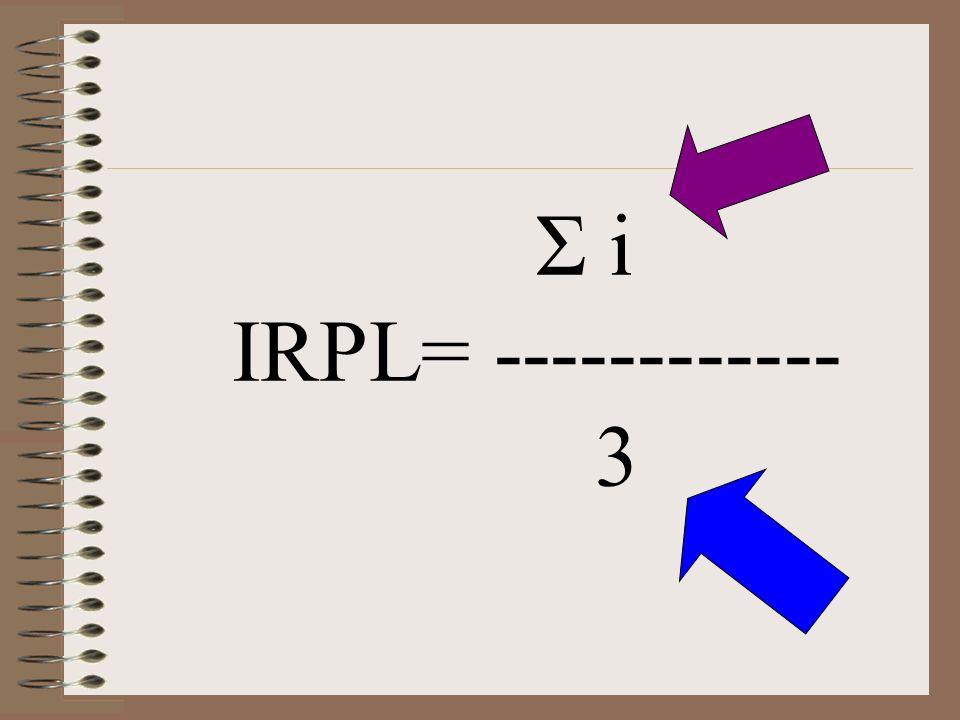 Σ i IRPL= ------------ 3