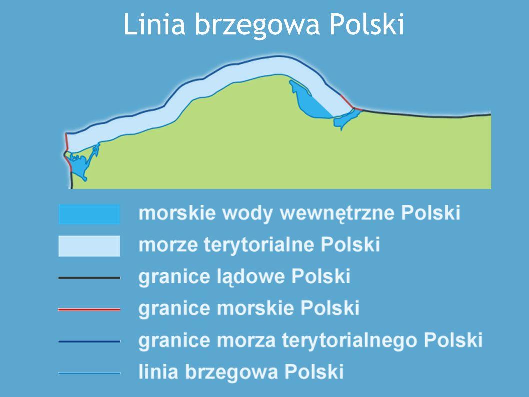 Podział strefowy morza Bałtyckiego Morskie wody wewnętrzne - wody znajdujące się między lądem a wewnętrzną granicą (linią podstawową) morza terytorialnego.