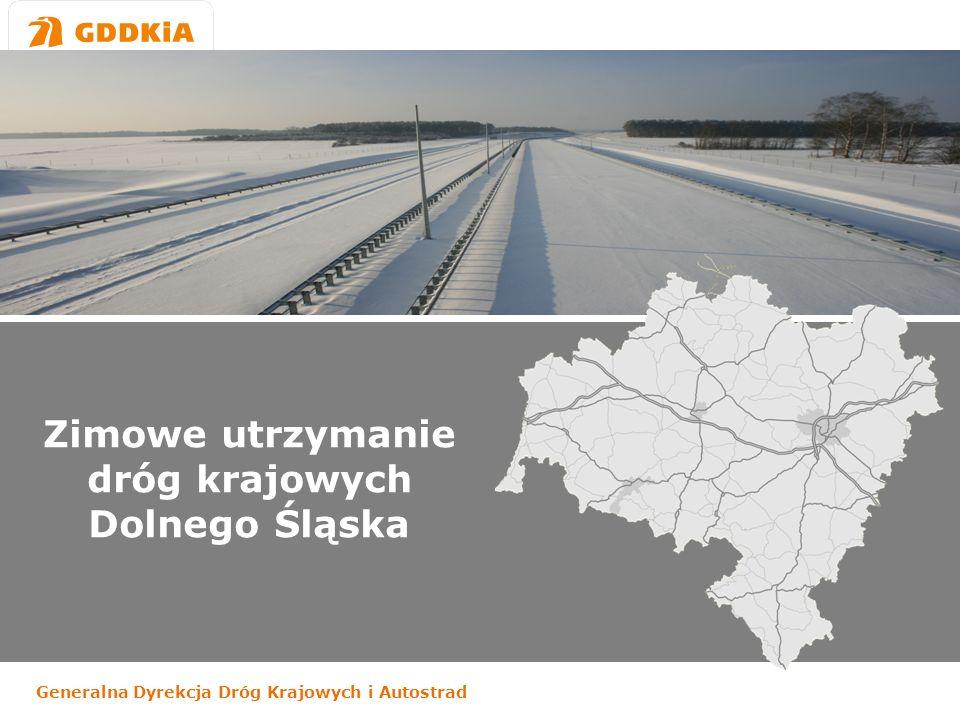 Generalna Dyrekcja Dróg Krajowych i Autostrad Zimowe utrzymanie dróg krajowych Dolnego Śląska