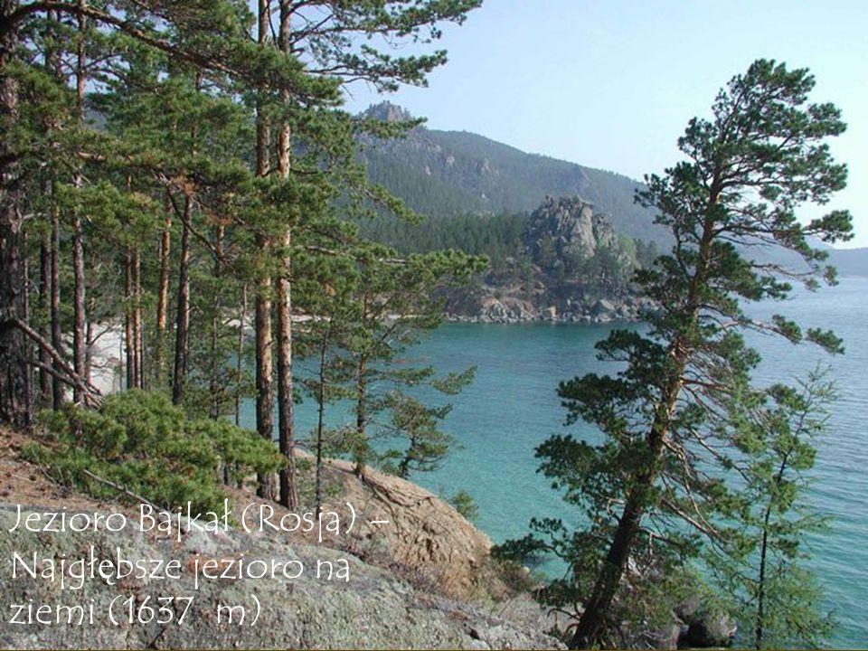 Jezioro Bajkał (Rosja) – Najgłębsze jezioro na ziemi (1637 m)