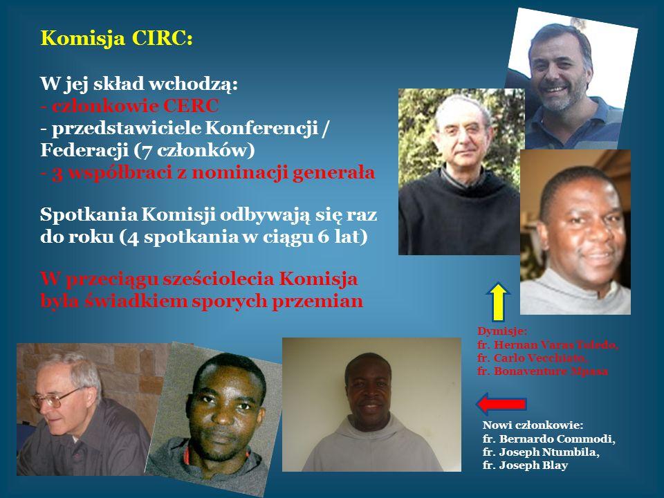 Komisja CIRC: W jej skład wchodzą: - członkowie CERC - przedstawiciele Konferencji / Federacji (7 członków) - 3 współbraci z nominacji generała Spotka
