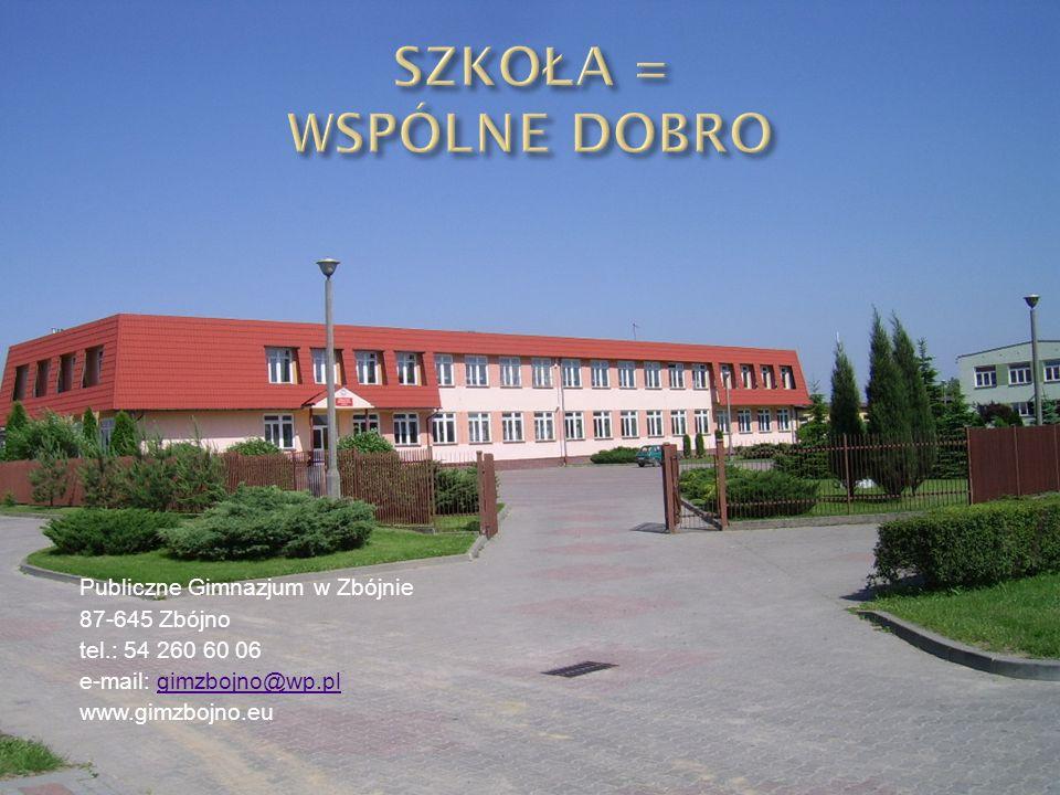 Publiczne Gimnazjum w Zbójnie 87-645 Zbójno tel.: 54 260 60 06 e-mail: gimzbojno@wp.plgimzbojno@wp.pl www.gimzbojno.eu