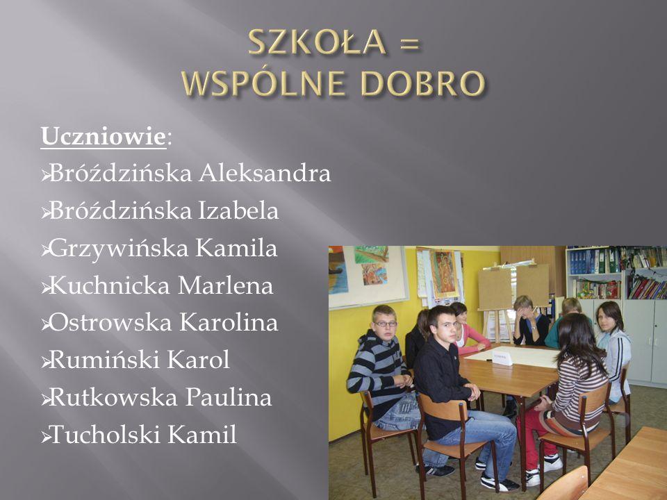 Nauczyciele z krótkim stażem: Krzemińska Karolina Rakoczy Ewa Sobiechowska Julia Zglenicka Wioletta