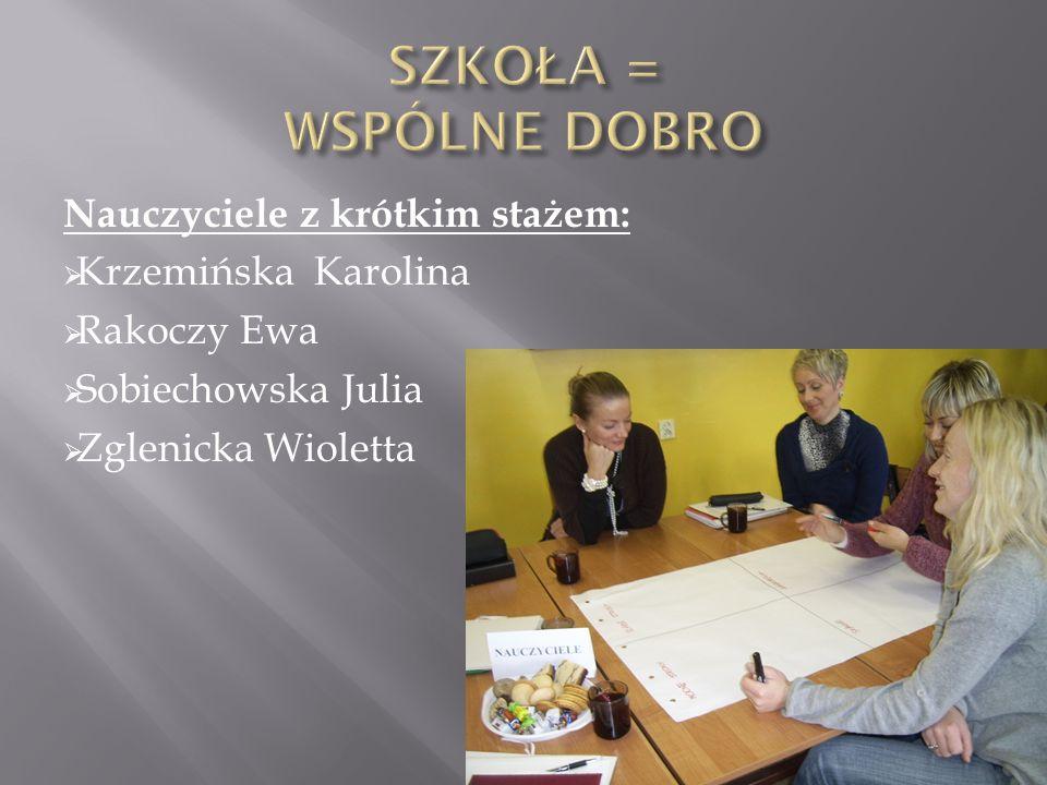 Nauczyciele z dłuższym stażem: Brzeziński Grzegorz Budna Ewa Cieplińska Małgorzata Kosowska Renata Skrzypiński Ireneusz