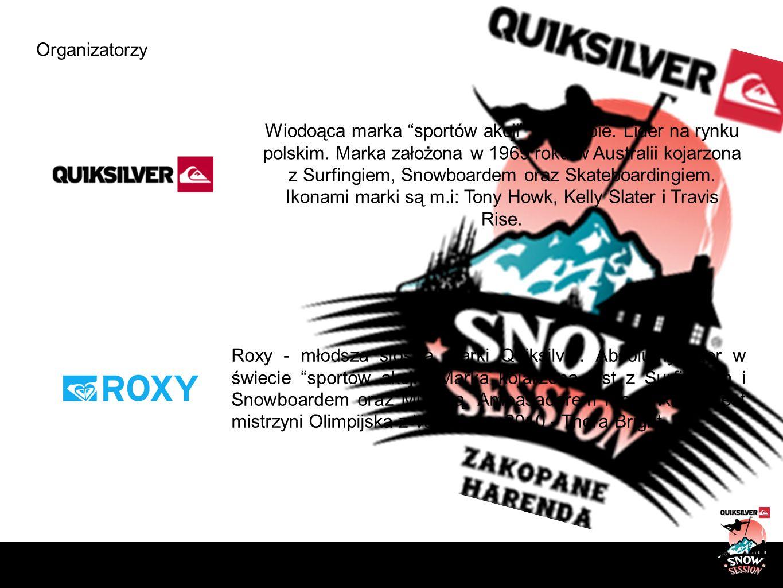 Organizatorzy Wiodoąca marka sportów akcji w Europie. Lider na rynku polskim. Marka założona w 1969 roku w Australii kojarzona z Surfingiem, Snowboard